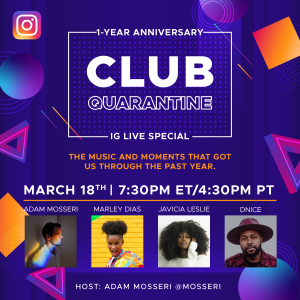 Club Quarantine IG 3-18-21