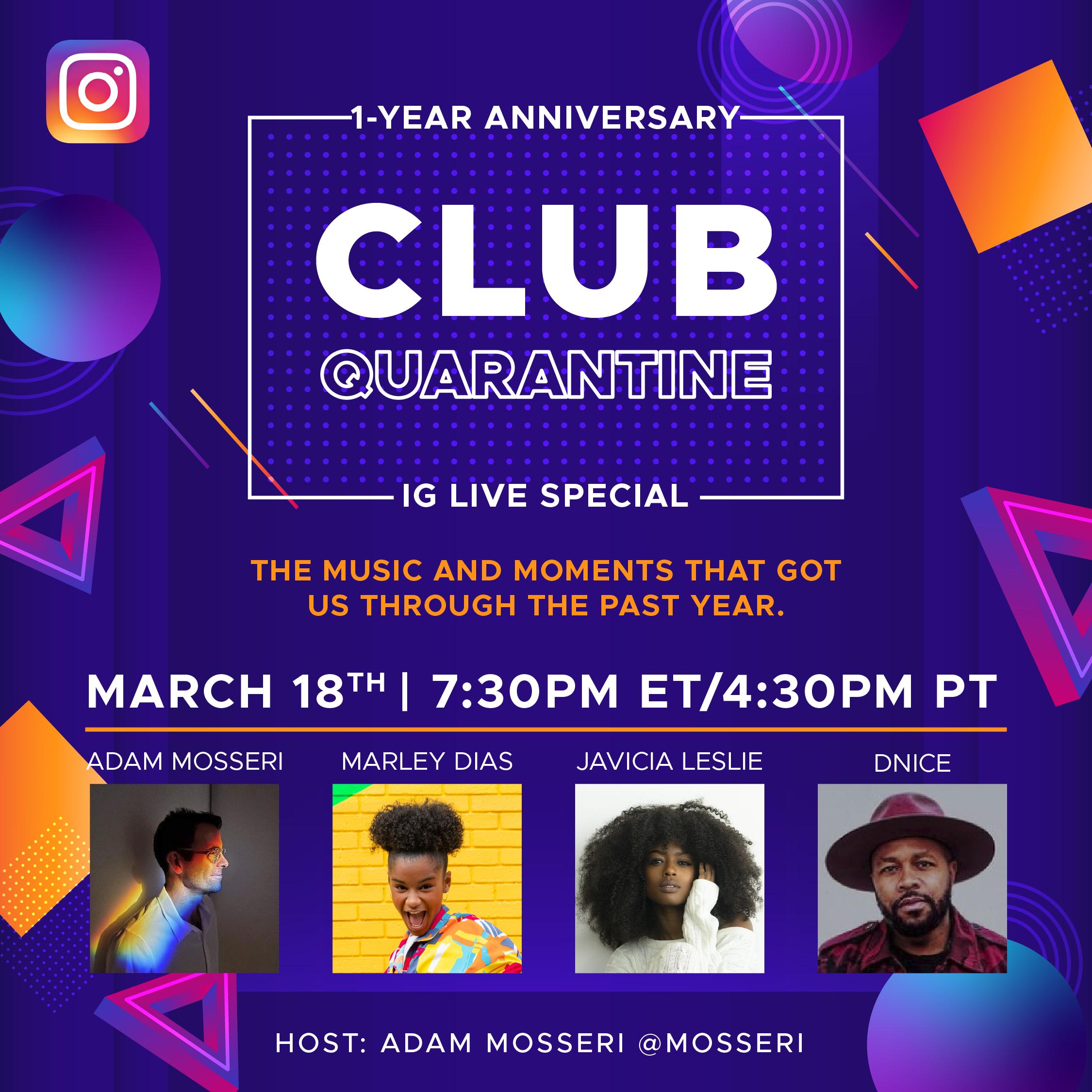 Club Quarantine IG 3-18-21